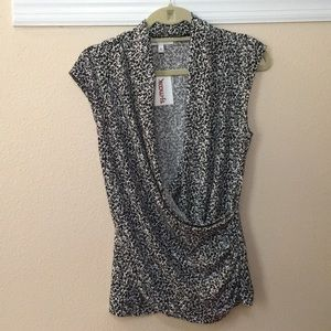 Medium Chaus drop neck blouse